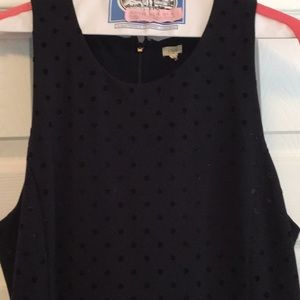 J Crew Factory Velvet Polka Dot Dress L